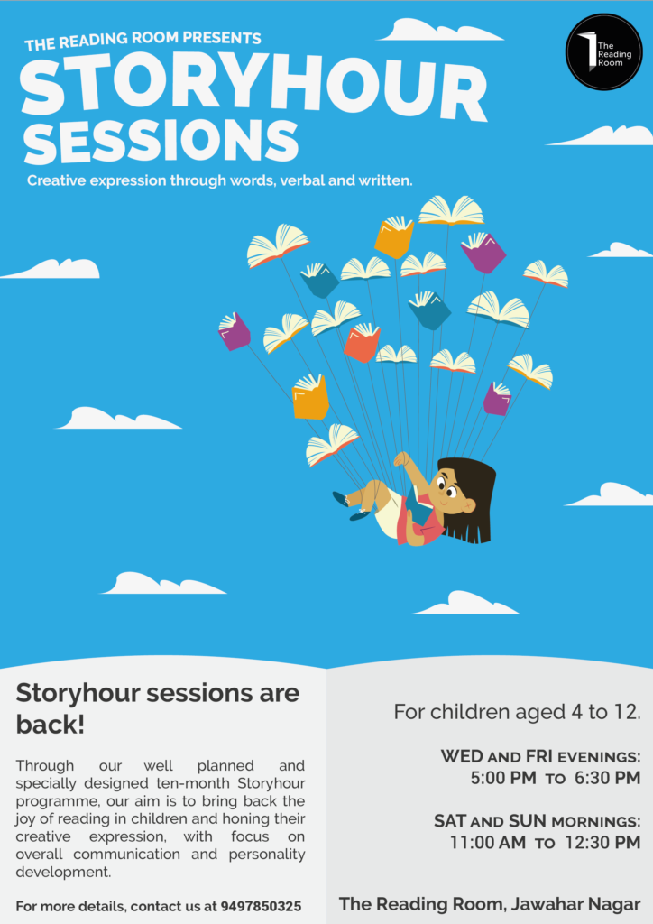 The Reading Room Trivandrum StoryHour Sessions For Kids 2019